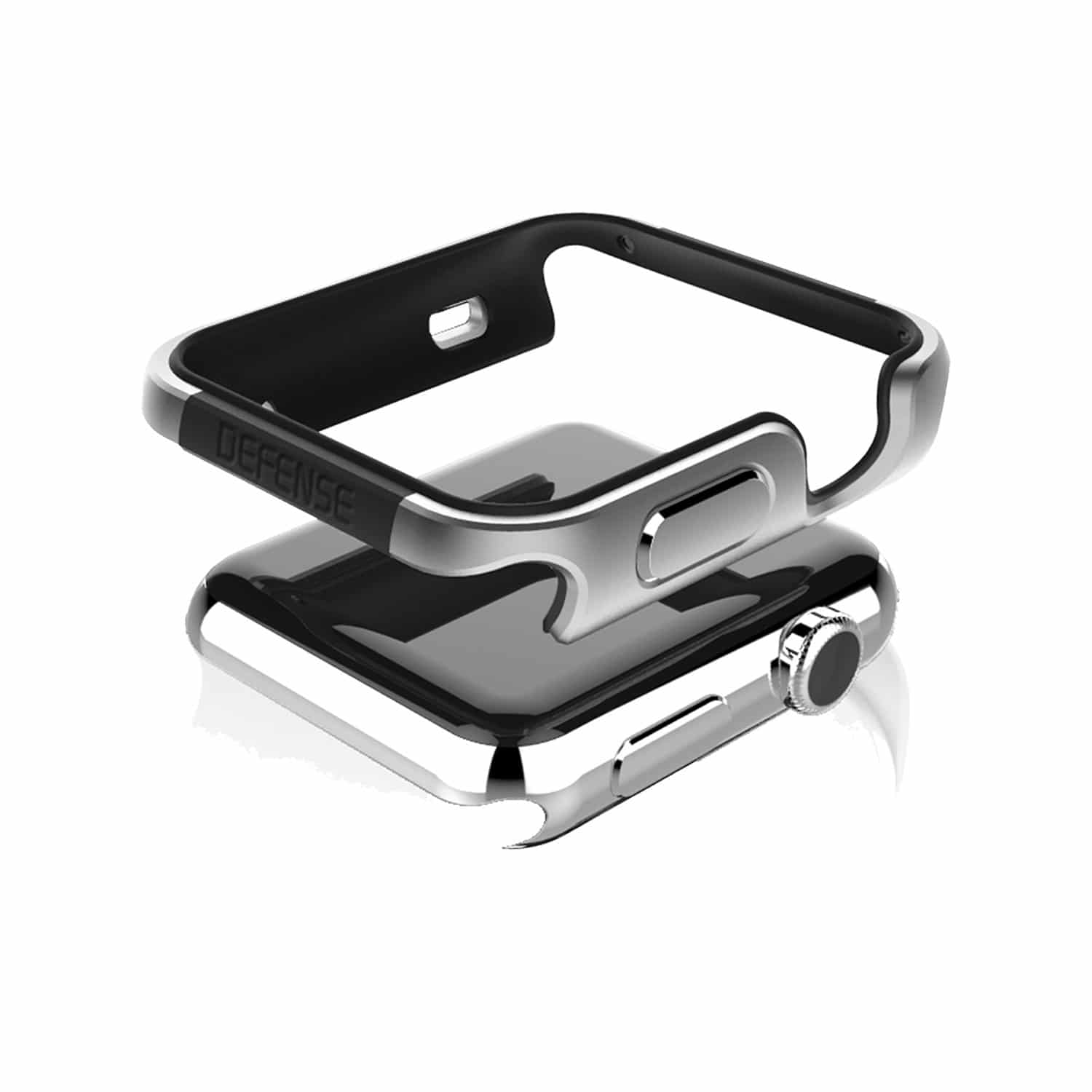 Raptic Edge Defense Case for Apple Watch 44mm Silver